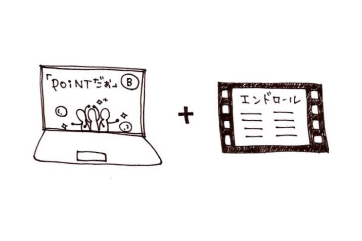 エンドロールにあなたのお名前入りミュージックビデオ(POiNTだぉ(仮))の画像