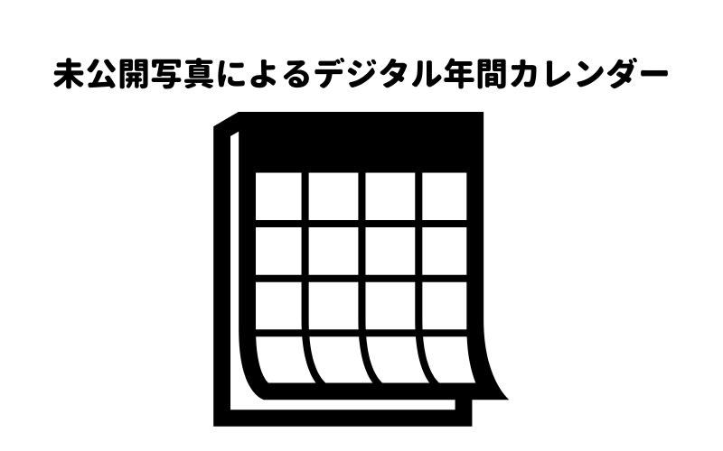 未公開写真によるデジタル年間カレンダーの画像