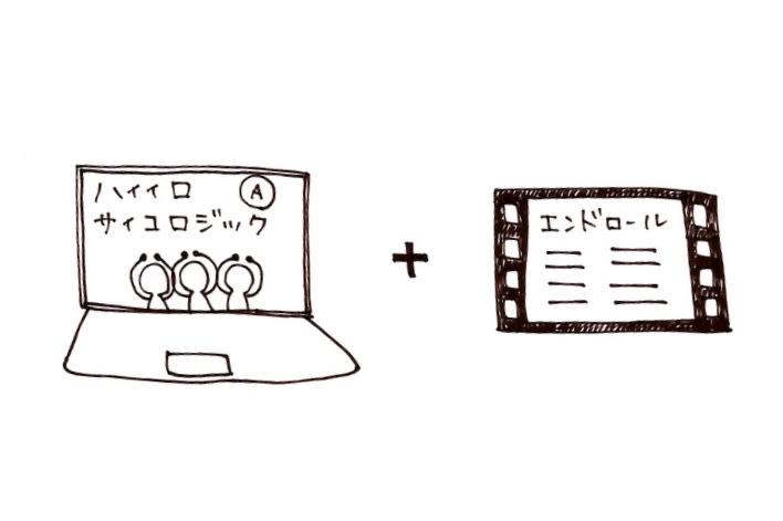 エンドロールにあなたのお名前入りミュージックビデオ(ハイイロ・サイコロジック)の画像